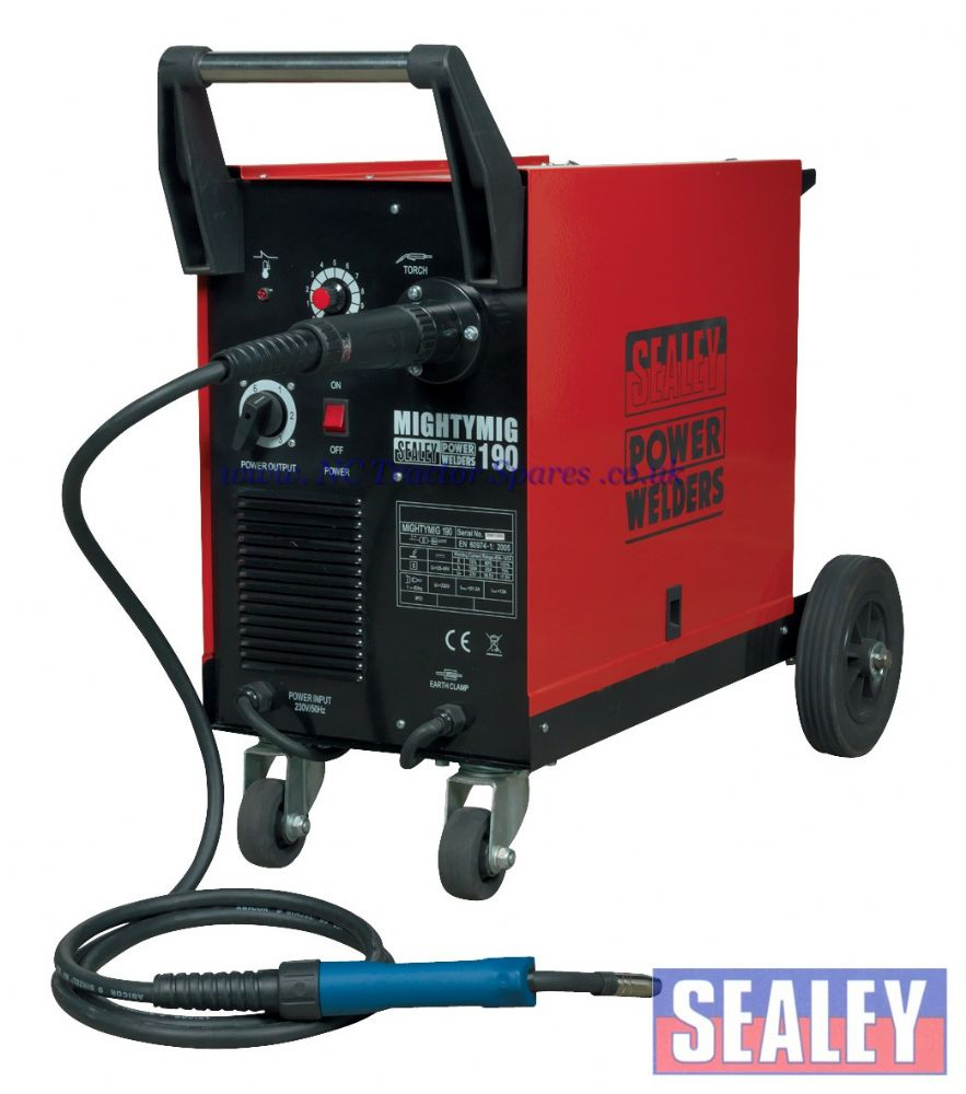 Professional Gas/No-Gas MIG Welder 190Amp with Euro Torch